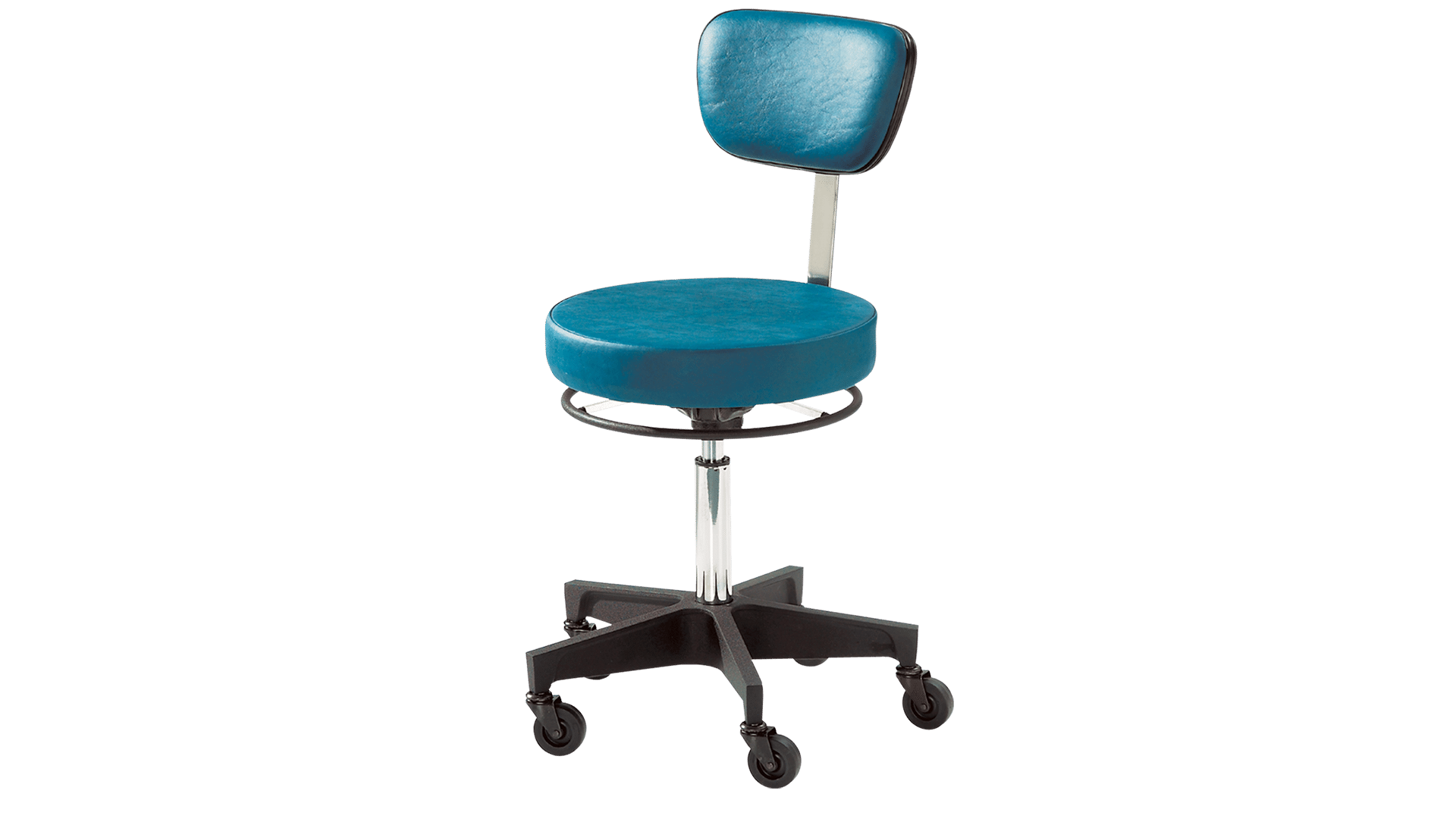 Exam Stool Pneumatic With Continuous Ring