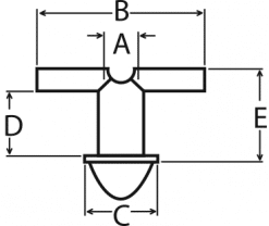 Grommet T-Tube Schematic