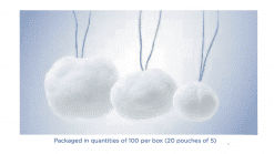 X-Ray Detectable Strung Cotton Balls (20 Pouches of 5ea)